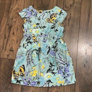 Gap Kids Girls Light Blue Floral Butterfly Dress